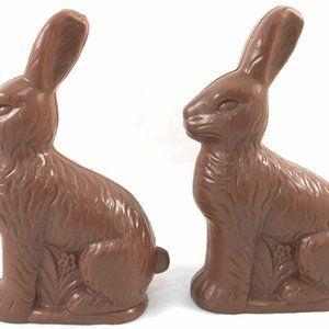 Chocolate Rabbit Shaped Plastic Treat Container